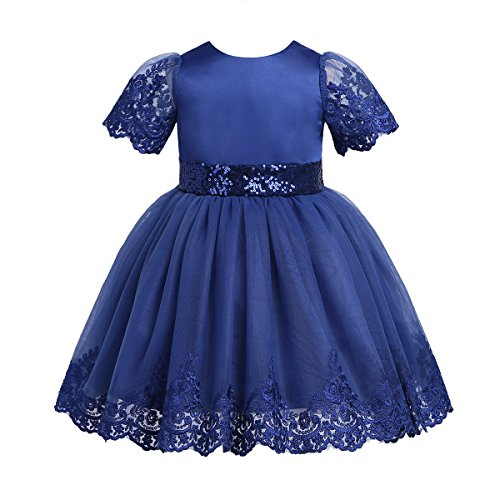 TiaoBug Baby Mädchen Prinzessin Kleid Blumenmädchenkleid Taufkleid Festlich Kleid Hochzeit...