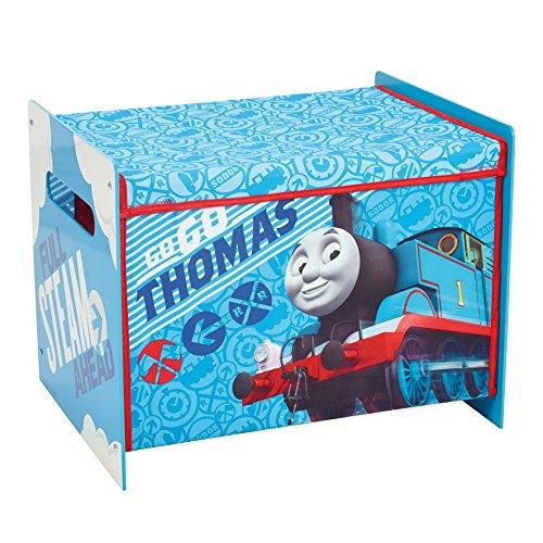 Thomas le train 865136 Coffre de Rangement, Bois, Bleu/Blanc, 39,5x39,5x51 cm
