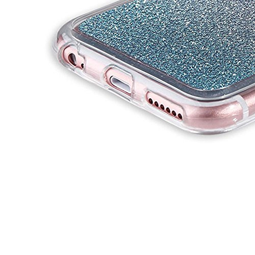 Custodia Per iPhone 6 Plus / 6S Plus,Funyye Glitter Brillare Rosa Graduale Cambiano Colore Stile Cover [Con Pellicola Protettiva] Morbido Sottile Silicone Gomma Gel TPU Protettivo Caso Originale Antis Design #13