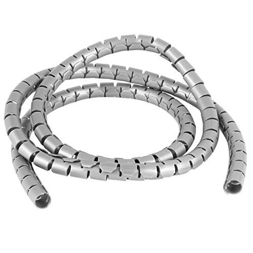1 m, grau, Cord, verwalten, Spiral-Draht-Ummantelung,
