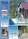 KRAUSE  lif003Leiter Gerüst, zusammenklappbar, 2000mm x 600mm Plattform, 1.8m Länge