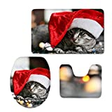 Christmas toilet pad combination pad flannel bathroom absorbent pad , cc4021cp