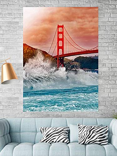 Tipolitografie Ghisleri Keilrahmen Senza-cornice-70x100-canvas-pxbay-san-golden-bridge
