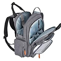 ROOYA BABY Backpack Changing Bag, Diaper Bag Rucksack with Changing Mat Pram Clips