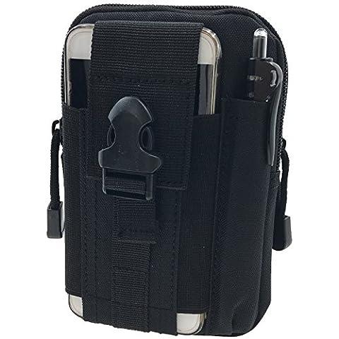 Taktische Tasche Gürteltasche Nylon Militär Molle - Tyidalin Outdoor Tactical Holster Handytasche EDC Camo Tasche Werkzeugtasche Groß mit Gürtel Schlaufe Multifunktions für Camping Reise