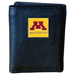 NCAA Minnesota Golden Gophers Genuine Leather Tri-fold Wallet