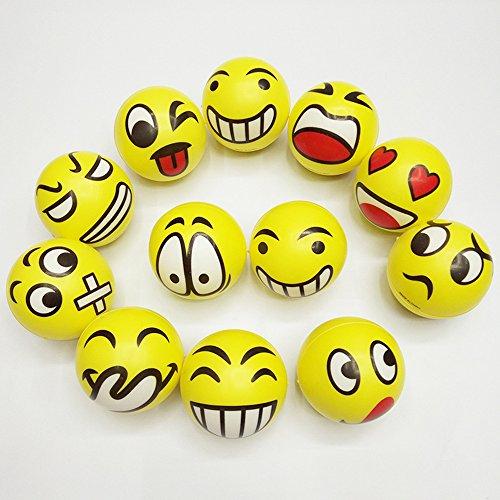 union-tesco-12-stck-emoji-gelbe-grimassenblle-ca-65-cm-durchmesser-flummi-anti-stressball-wurfball-k