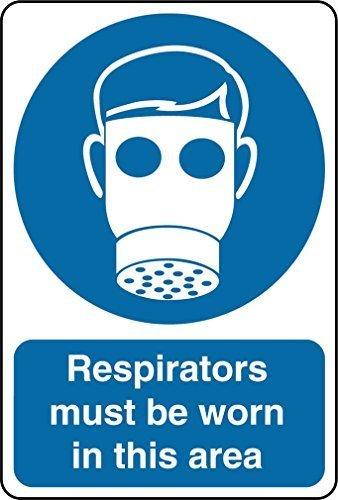 wennuna Aluminium Metall Schild Lungenautomaten zu tragen, in diesem Bereich Pflicht OSHA/ANSI Aluminium Metall Schild 22,9x 30,5cm