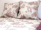 Soleil d'ocre 376091 NOEMIE Couvre-lit boutis matelassé avec 2 Taies d'oreiller...