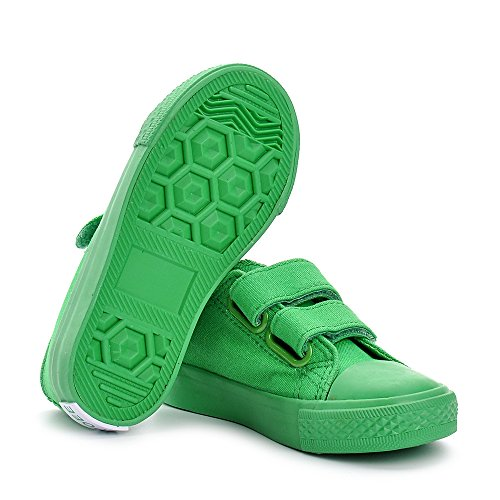 Estamico,Baskets basses Mixte Enfant, Sneakers Fille de Toile Vert