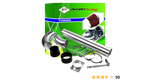 Akhan Air01 Air Intake Universal Energy 19 Piece Pipe Filter Assembly Kit Auto