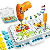 Lommer Mosaik Steckspiel Spielzeug Schrauben Puzzle Spielzeug Steckspiele Werkzeuge Spielzeug Baby Spielzeug Lernspielzeug für Kinder ab 3 jahren, 30.5x24.5x6CM