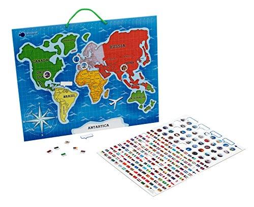 Imaginarium- magnético con Banderas de países, Magneto Mapamundi (84084)