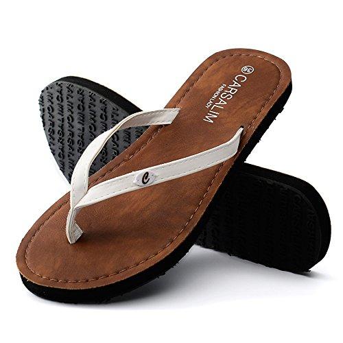 Estate Sandali Pantofole estive Sandali da spiaggia Pattini esterni di modo Bianco, nero, marrone Colore / formato facoltativo Bianca