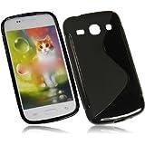 Für Samsung G3500 Galaxy Core Plus New Style S Design Tasche Silikon TPU Rubber Case Handytasche Hülle Schutzhülle Silicon Skin Cover in Schwarz/Black
