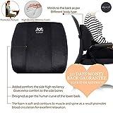 MYSTYLE Orthopedic Memory Foam Backrest/Lumbar Support Pillow Velvet for Back Pain Relief -Ideal