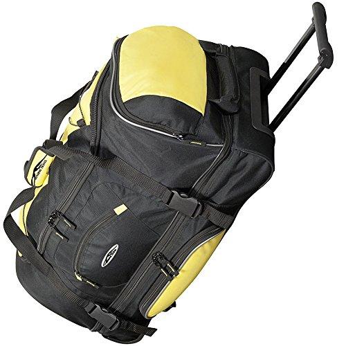 JEMIDI Reisetasche 106L XXL mit Rollen Trolley Jumbo Tasche Reise Koffer Sporttasche (Blau) Gelb