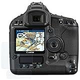 atFoliX Panzerfolie für Canon EOS 1Ds Mark III Folie - 3er Set FX-Shock-Clear stoßabsorbierende ultraklare Displayschutzfolie