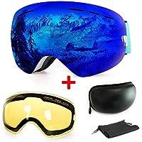 b0b162a300 Gafas de esquí antiniebla con protección UV para snowboard, esquí, skating  y otros deportes