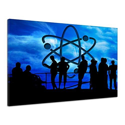 Personen Silhouetten Atom Kernenergie Neutron Leinwand Poster Druck Bild rv1383 80x60