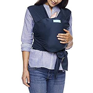 MOBY Classic Baby Wrap Carrier for Newborn to Toddler up to 33lbs, Baby Sling from Birth, One Size Fits All, Breathable Stretchy made from 100% Cotton, Unisex   2