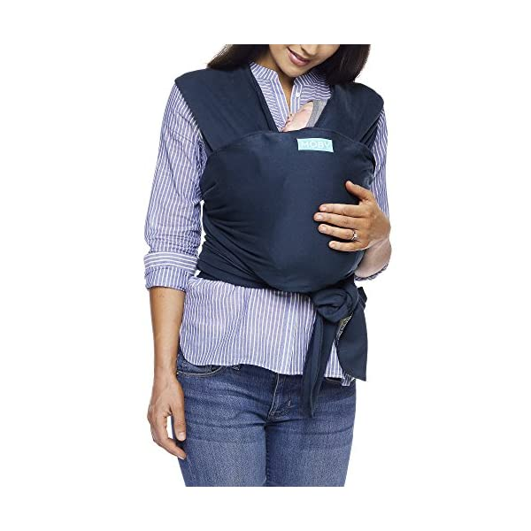 MOBY Classic Baby Wrap Carrier for Newborn to Toddler up to 33lbs, Baby Sling from Birth, One Size Fits All, Breathable Stretchy made from 100% Cotton, Unisex Moby One size fits all Encourages parent/child bonding Ideal for all climates and seasons 1