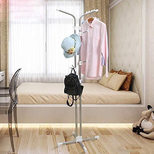 KaiKai Kleiderständer bodenstehende Garderobe Schlafzimmer Flur Garderobe Kleiderbügel kreative Mode Edelstahlrahmen