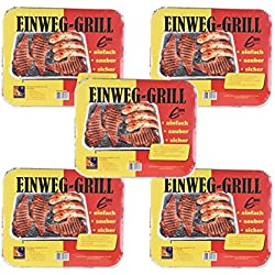 Einweg Grill Campinggrill BBQ Picknick Wandern Grillen (5)