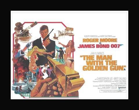 JAMES BOND (OFFICIAL) - Golden Gun Matted Mini Poster - 30x40cm