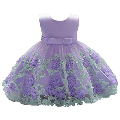 6e654b5d90 K-youth Vestido Niña Vestido de Encaje Sin Mangas Tutú Princesa Vestido Bebé .