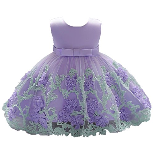 K-youth Vestido Niña Vestido de Encaje Sin Mangas Tutú Princesa Vestido  Bebé Niña Verano 5fe2f69de643