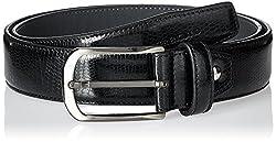 Peter England Mens Synthetic Belt (8907495138602_RL51691434_Large_Black)