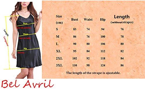 Bel Avril Femme Chemise de Nuit Peignoir simple Nuisette Satin Taille de S à XXXL Turquoise