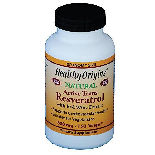 Healthy Origins, Resvératrol, Puissance maximum, 300 mg, 150 Capsules végétales