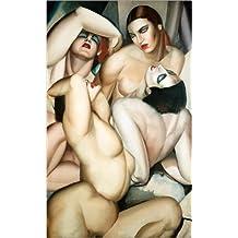 Poster 80 x 130 cm: Gruppe von vier Nackten von Tamara de Lempicka / AFIN. - hochwertiger Kunstdruck, neues Kunstposter