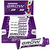Grow Protein Bars - Revolutionary New Protein Snacks - 20g Protein Only 102 Calories & 0.1g Fat - Premium Grade Yogurt Based Protein - The Most Convenient Protein Product Available - Delicious Mixed Berry Flavour - Rapid Release Protein Supply - Low Calorie Diet Protein Bar (Mixed Berry, 12 x 70g Sachet) (Συσκευασία κυμαίνονται)