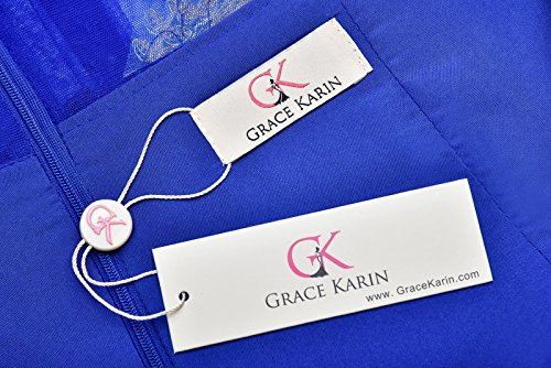 Grace Karin Etui Meerjungfrau Langes Ballkleid Abendkleid GK026 Blau