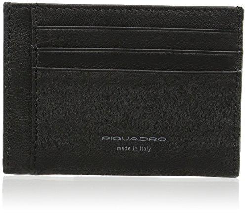 Piquadro David, Porta Carte di Credito Unisex Adulto, Nero, 0.5 x 8 x 11 cm (W x H x L)