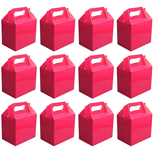 value-pack-12-x-choose-your-colour-paper-lunch-going-home-present-picnic-boxes-hot-pink