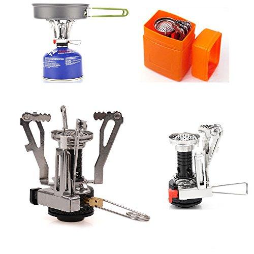Outdoor Faltbare Metall tragbare elektronische zündung Gas - Brenner butan - propan - behälter Mini - ofen -