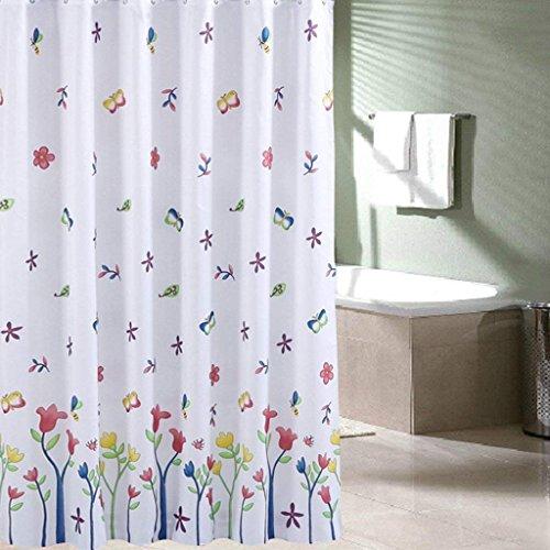 ZBB der Duschvorhang in Polyester Opaque Pattern zu Erru Blumen Warm und Wasserdicht zu Halten, Um Den Test der ildewproof Bad WC Wasserdicht Partition (Vorhänge Größe: 200 cm * 200 cm)