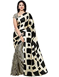 Applecreation Crepe Saree With Blouse Piece