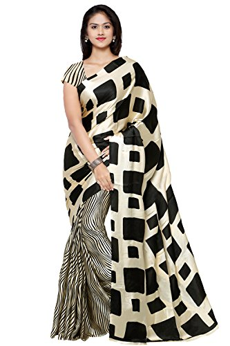 Applecreation Crepe Saree (Sarees Jpq5664_Black)