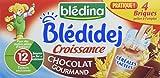 Blédina Blédidej Croissance Céréales Lactées Chocolat Gourmand dès 12 mois 4 x 250 ml