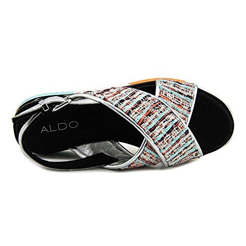 Aldo Kaley Offener Spitze Leder Slingback Sandale Multi Colored