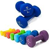 2er-Set Hanteln 0,5kg, 0,75kg, 1kg, 1,5kg, 2kg, 3kg & 4kg / rutschfeste & griffige Neoprenoberfläche »Peso« Kurzhanteln (Aerobic-Gewichte) in verschiedenen Gewichts- und Farbvarianten. Das Hantelset besteht aus 100% Eisen - Die Gewichte bzw. das Kurzhantel-Set eignen sich für Gymnastik, Fitnesstraining, Physiosport & Heimtraiing. Das Hantelpaar ist schön griffig, einfach zu reinigen & resistenz gegen Schweiß & Feuchtigkeit / 3kg, navyblau