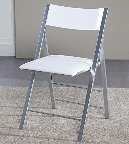 Chair QL Klappstühlen Nordic Casual Erwachsene Klapp Esszimmerstuhl Moderne Einfache Kreative Heimat Rückenlehne Stuhl (Größe: 47 * 47 * 80,5 cm) restaurant Klappstühle ( Farbe : B...