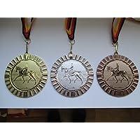 Medaillen Gärtner Garten Pokal Kids Medaillen 3er Set mit Deutschland-Band Emblem Pokale