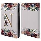 Head Case Designs Offizielle Nature Magick N Blumen Monogramm Blumig Gold 2 Brieftasche Handyhülle aus Leder für iPad Mini 1 / Mini 2 / Mini 3