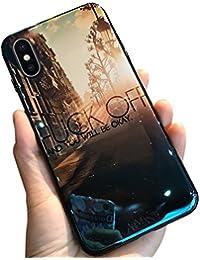 MoreChioce iPhone X Hülle,iPhone X Hülle Silikon, Luxus Blaues Licht Glitzer Funkeln Durchsichtig Kristall Flexible Gel Case Crystal Case Defender Bumper für iPhone X